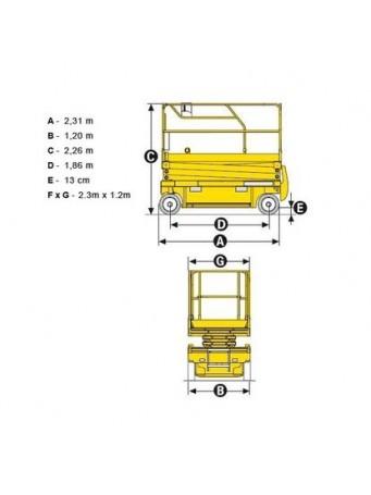 Ножничный электро подъемник Haulotte Compact 10