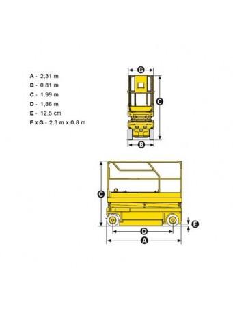 Ножничный электро подъемник Haulotte Compact 8