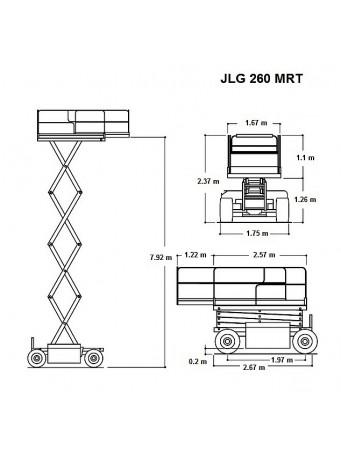 Ножничный подъемник JLG 260MRT