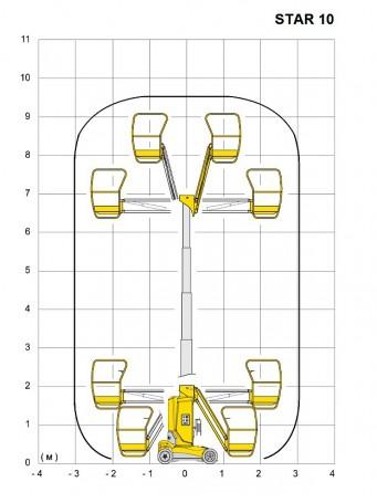 Телескопический вертикальный подъемник Haulotte Star 10