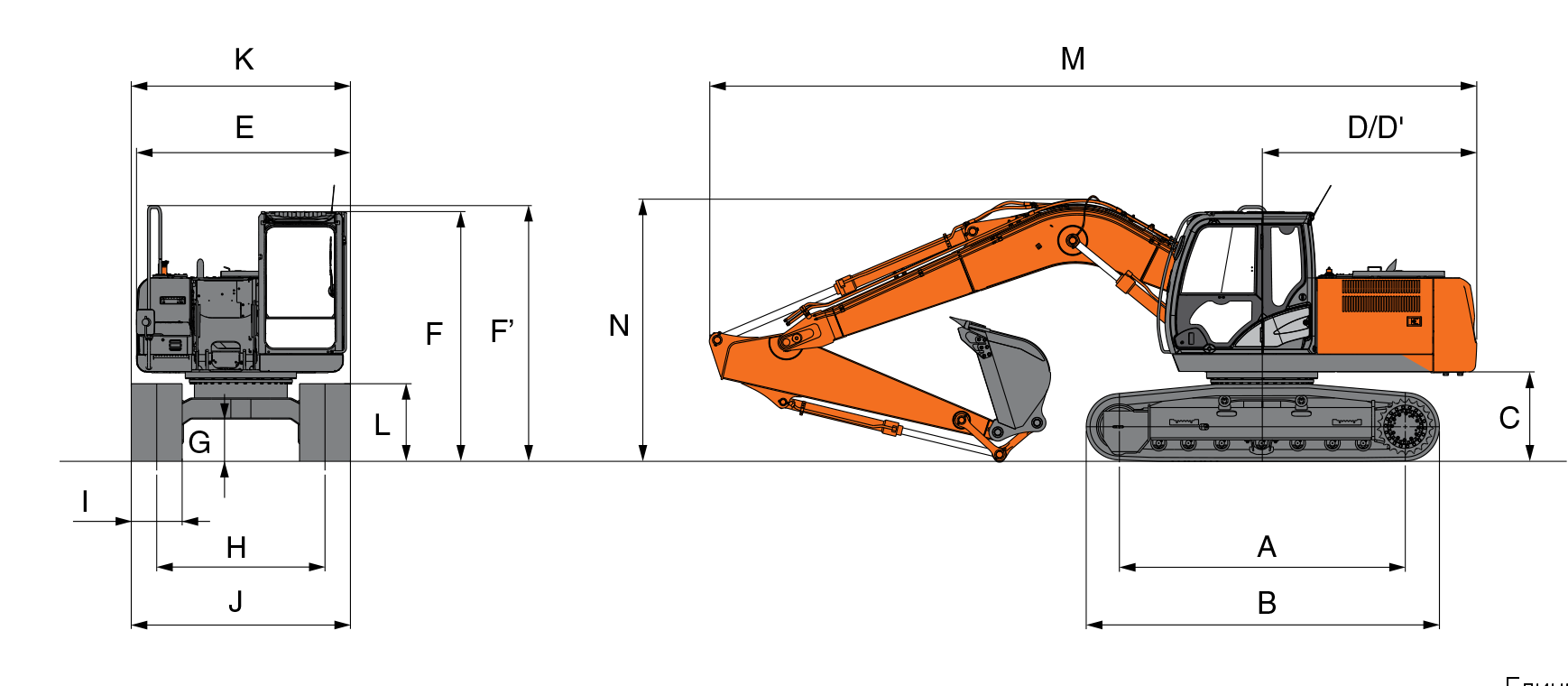 Технические характеристики экскаватора Hitachi ZX180 LC Hitachi ZX180 LC