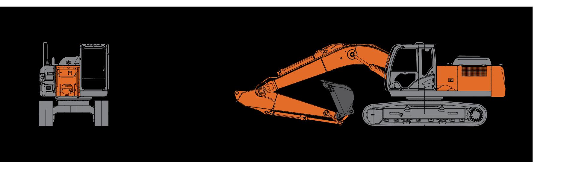 Технические характеристики экскаватора Hitachi ZX210 LC